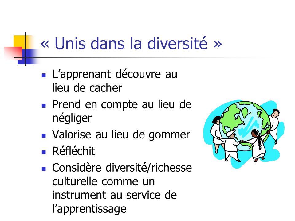 « Unis dans la diversité »