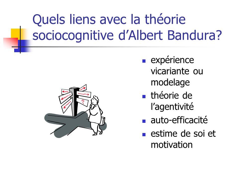 Quels liens avec la théorie sociocognitive d'Albert Bandura
