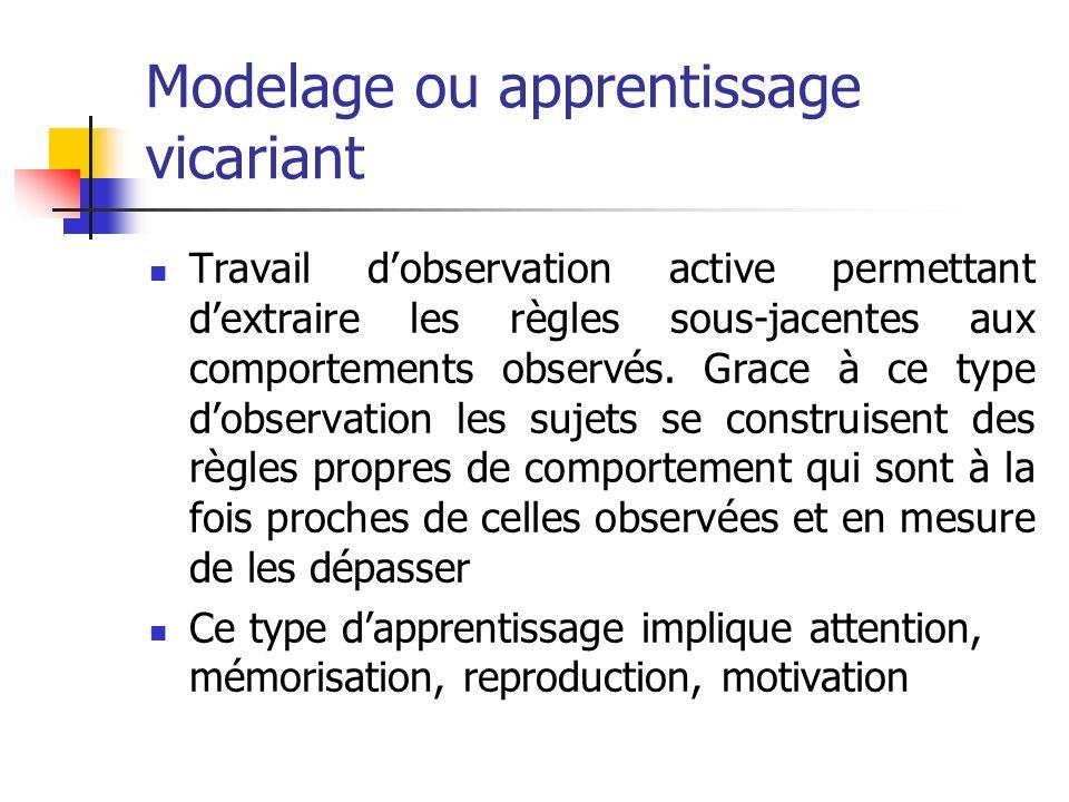 Modelage ou apprentissage vicariant