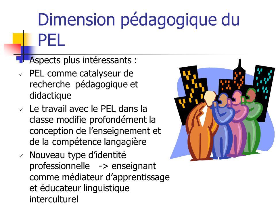 Dimension pédagogique du PEL