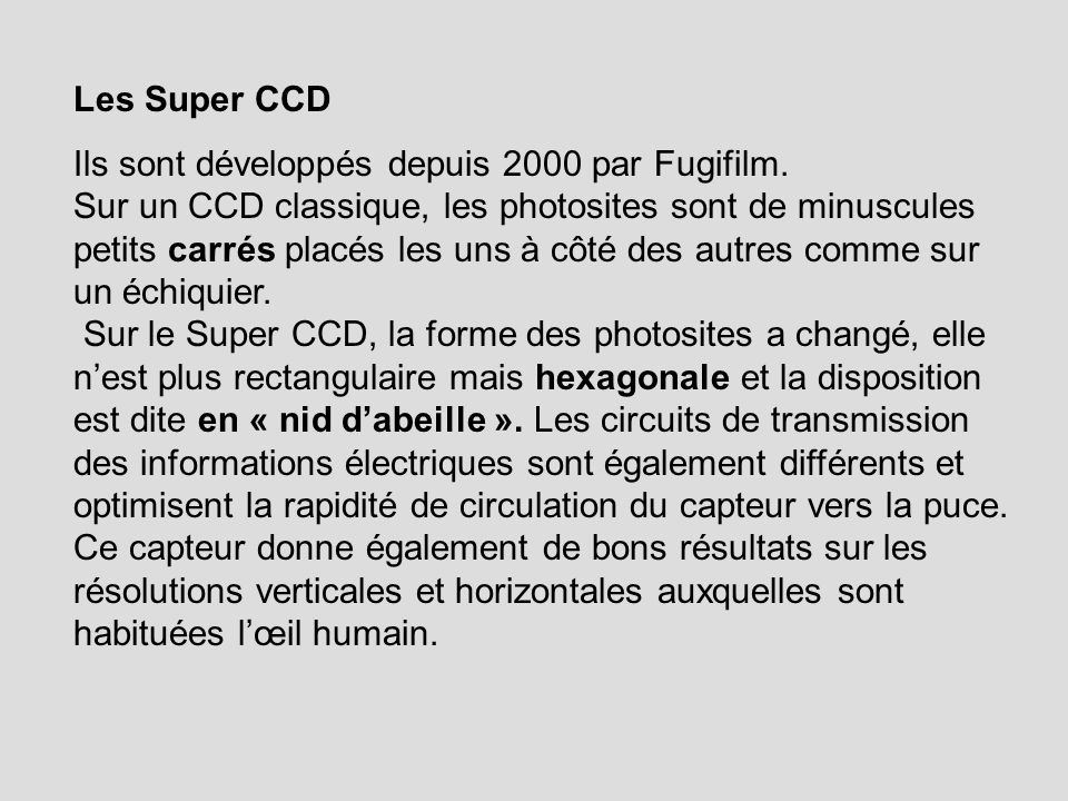 Les Super CCD