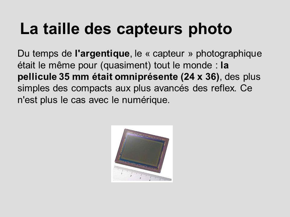 La taille des capteurs photo