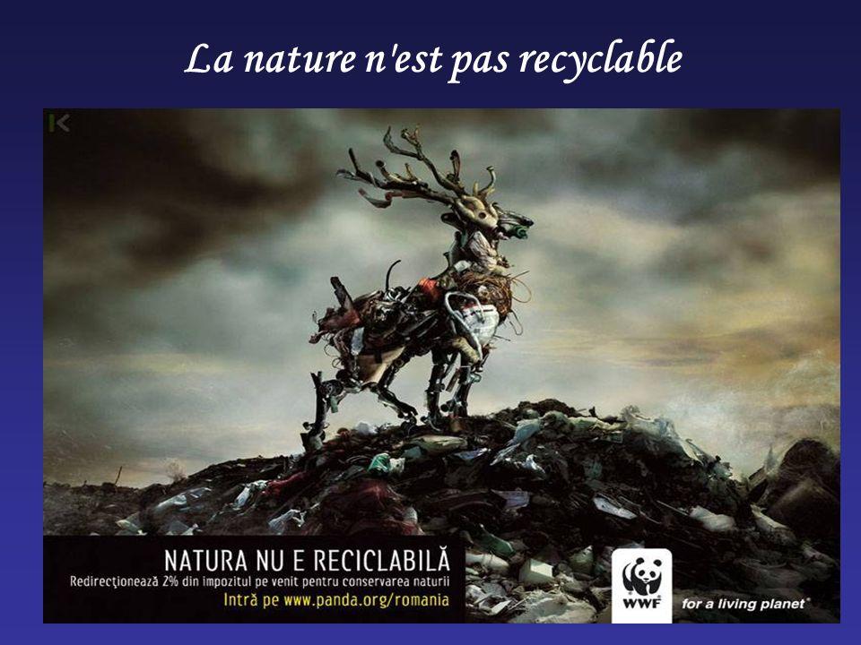 La nature n est pas recyclable