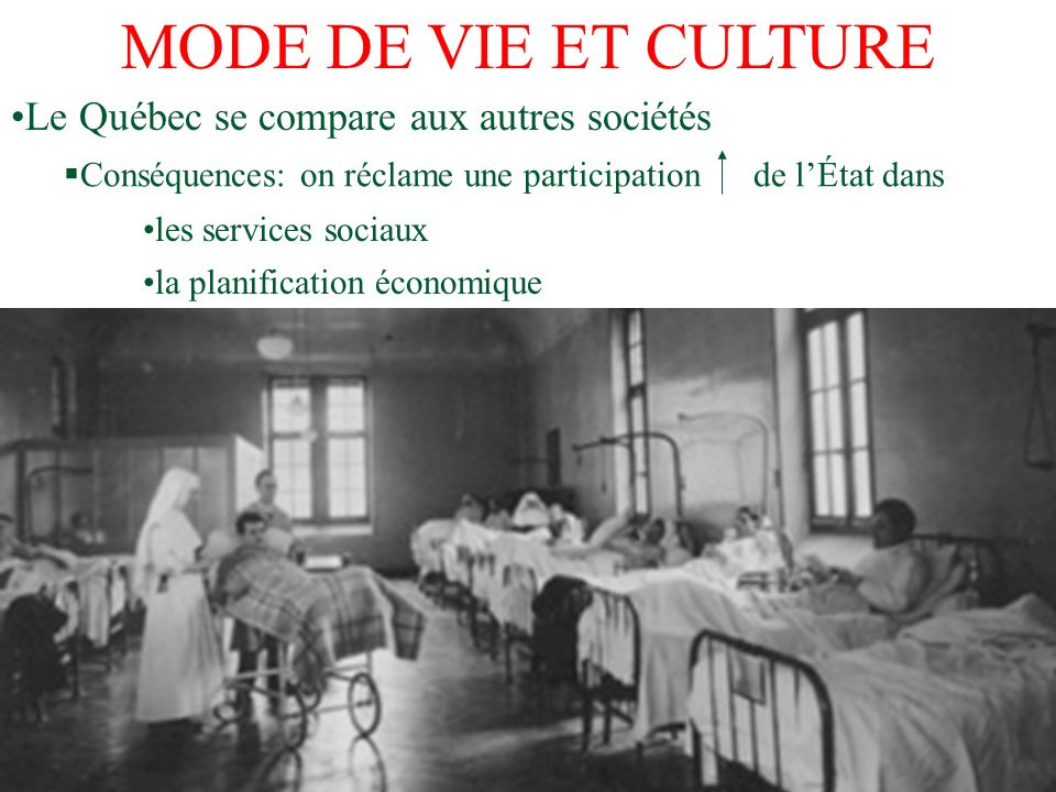 MODE DE VIE ET CULTURE Le Québec se compare aux autres sociétés