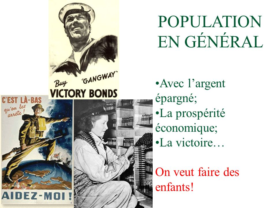 POPULATION EN GÉNÉRAL Avec l'argent épargné; La prospérité économique;