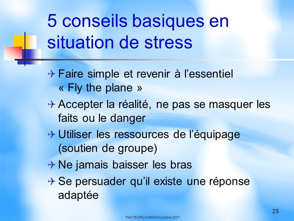 5 conseils basiques en situation de stress