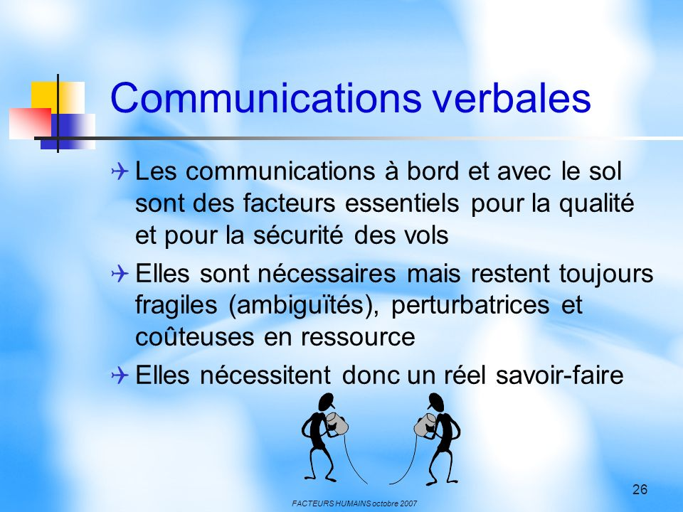 Communications verbales