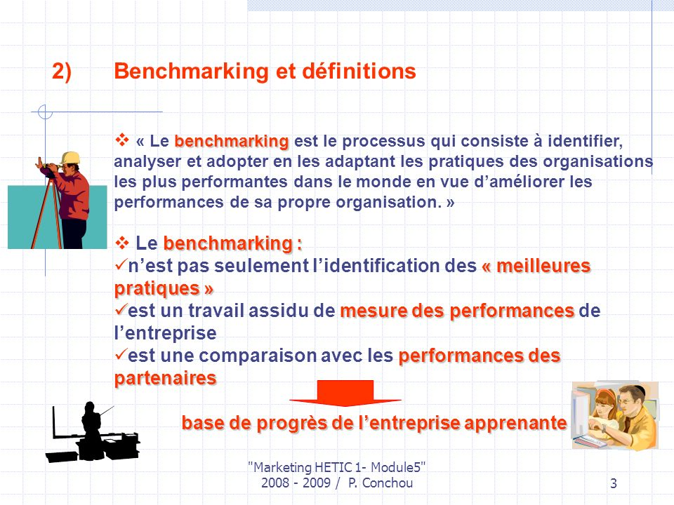 Benchmarking et définitions