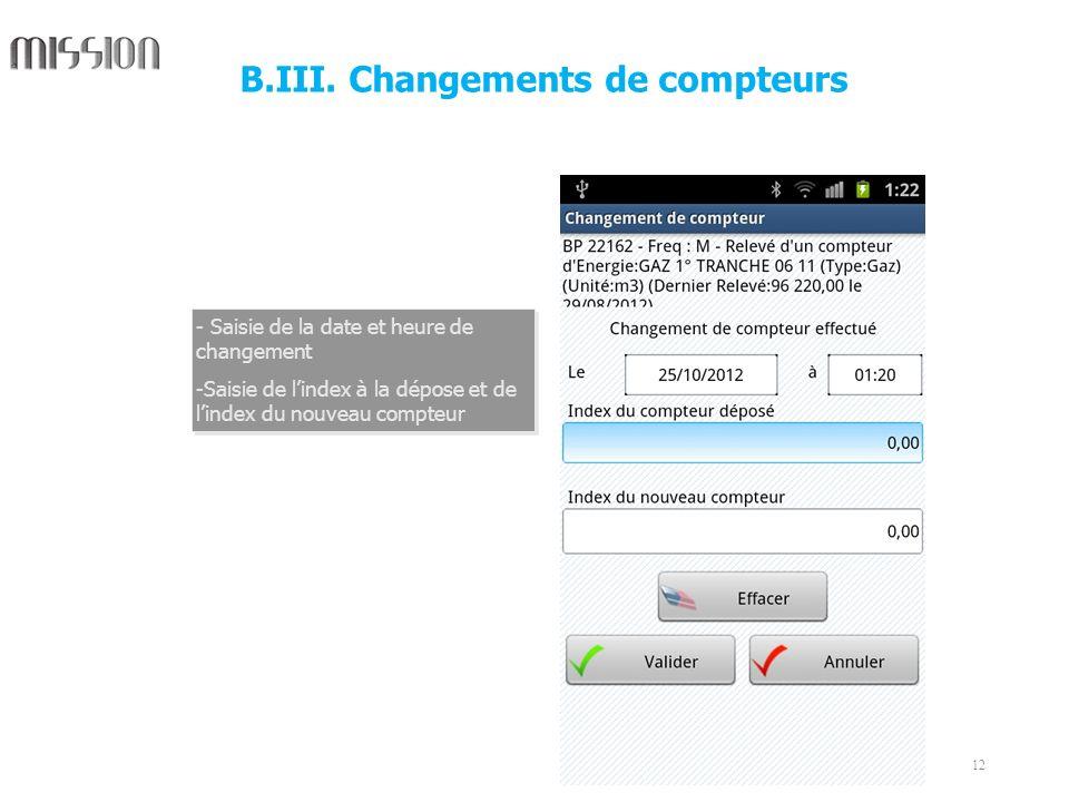 B.III. Changements de compteurs