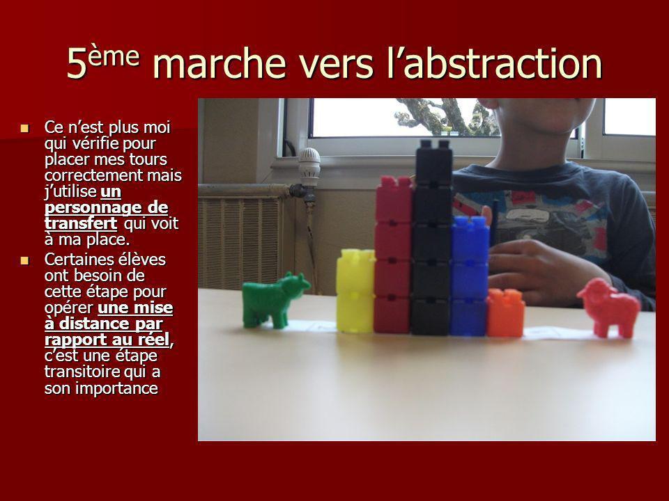 5ème marche vers l'abstraction