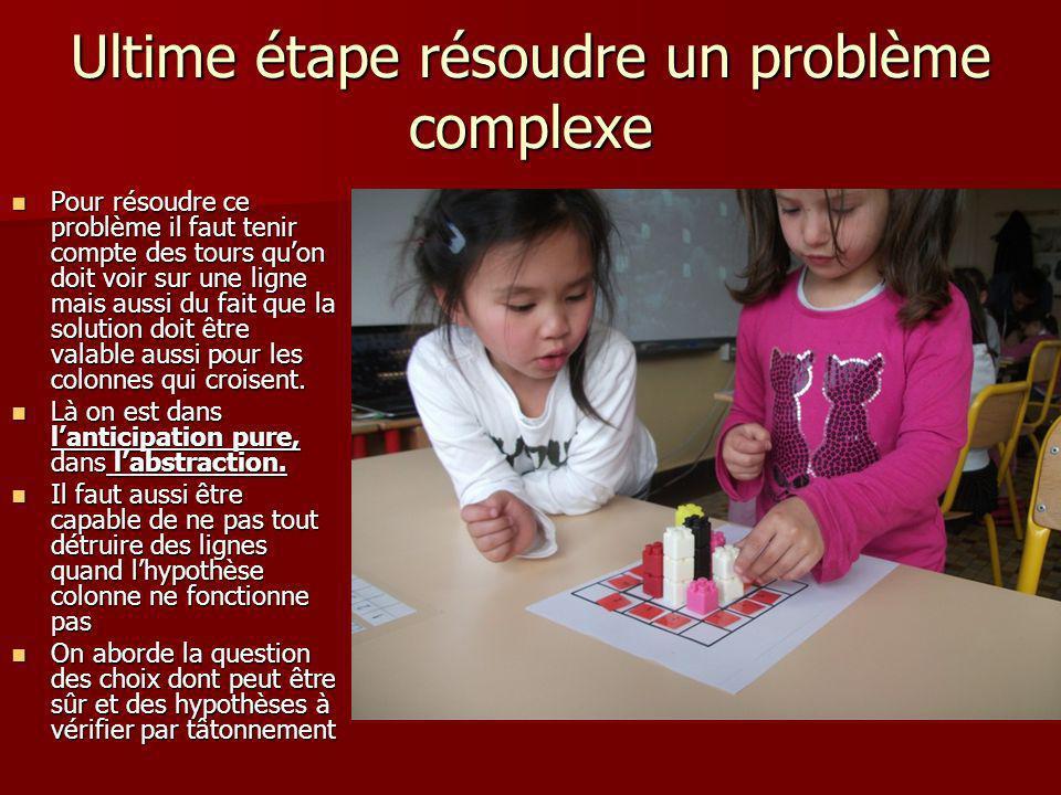 Ultime étape résoudre un problème complexe