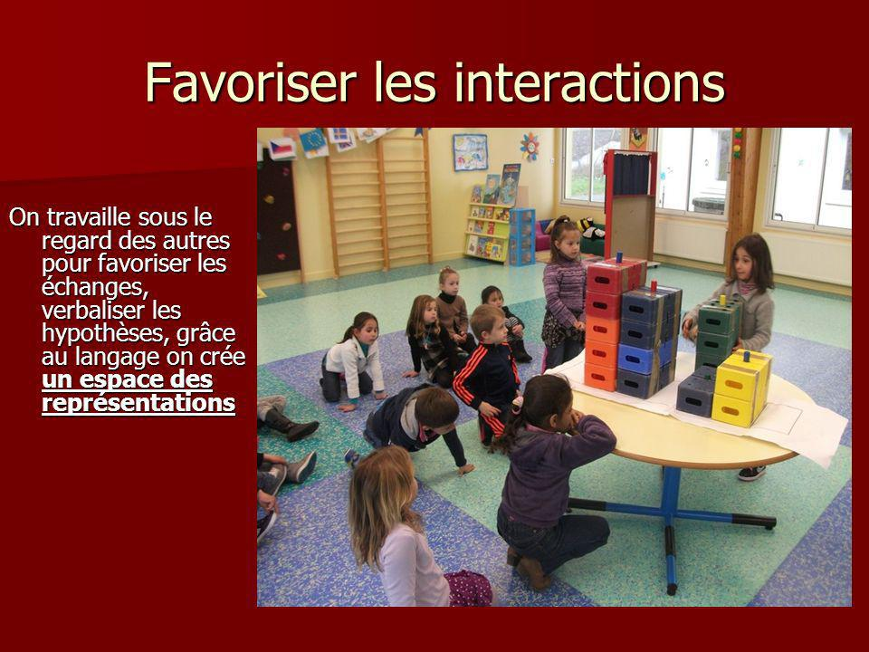 Favoriser les interactions