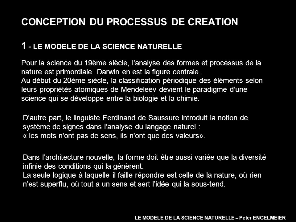 LE MODELE DE LA SCIENCE NATURELLE – Peter ENGELMEIER