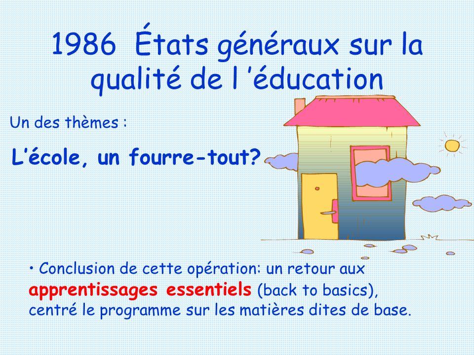 1986 États généraux sur la qualité de l 'éducation