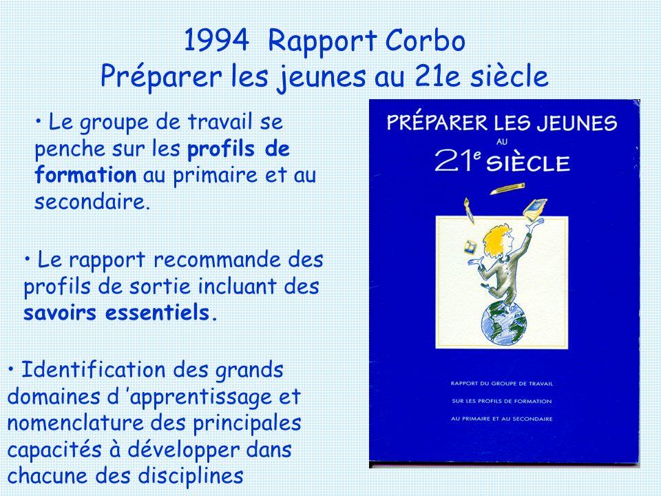 1994 Rapport Corbo Préparer les jeunes au 21e siècle