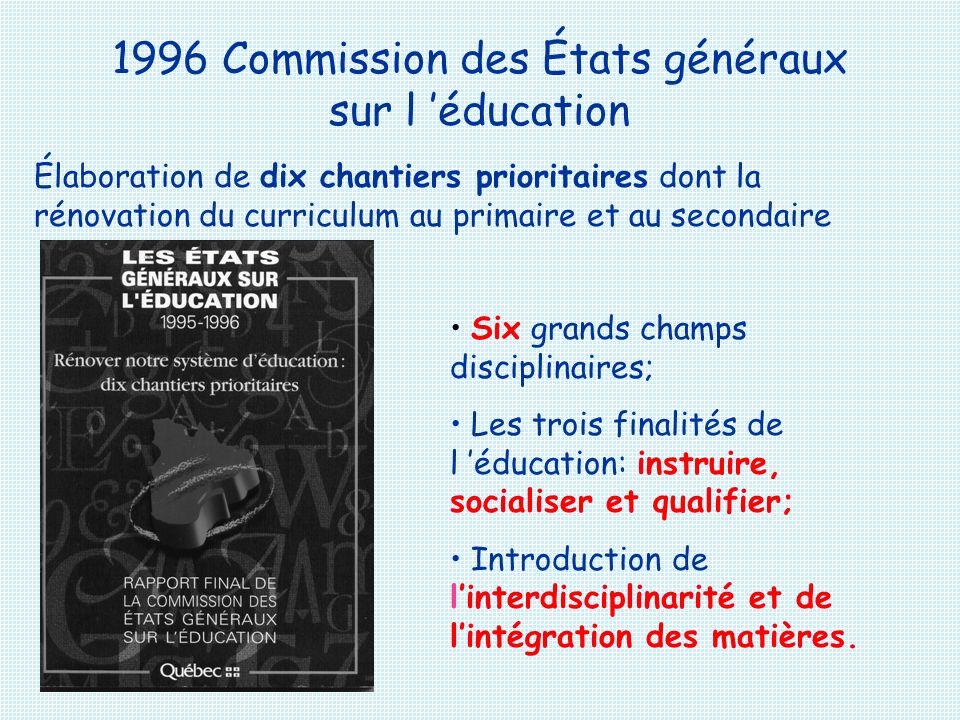 1996 Commission des États généraux sur l 'éducation