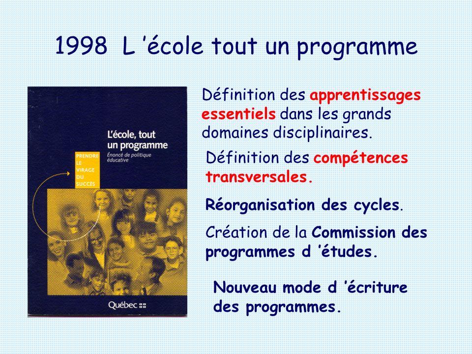 1998 L 'école tout un programme