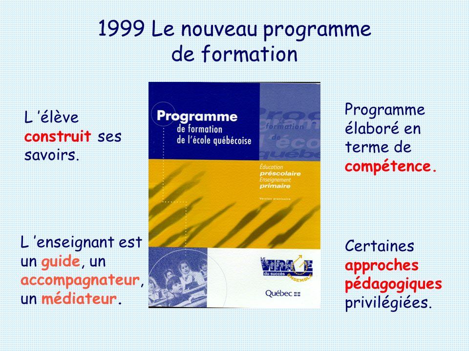 1999 Le nouveau programme de formation
