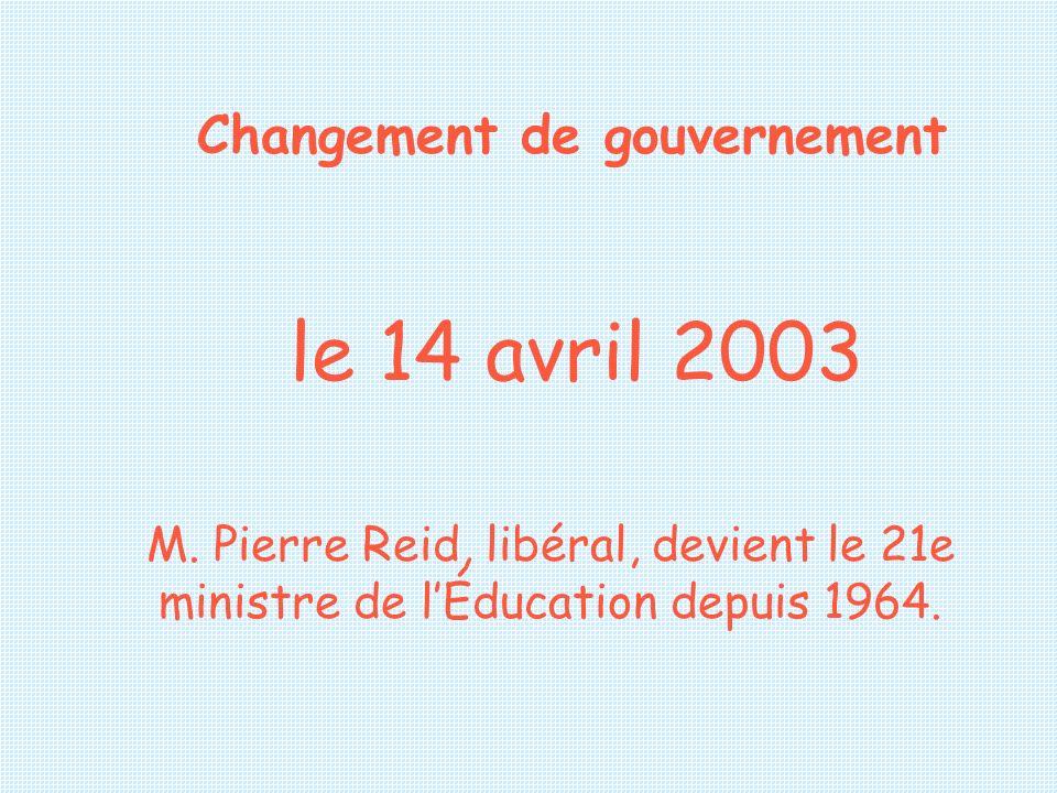 Changement de gouvernement
