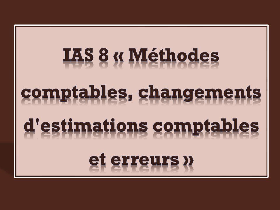 comptables, changements d estimations comptables et erreurs »