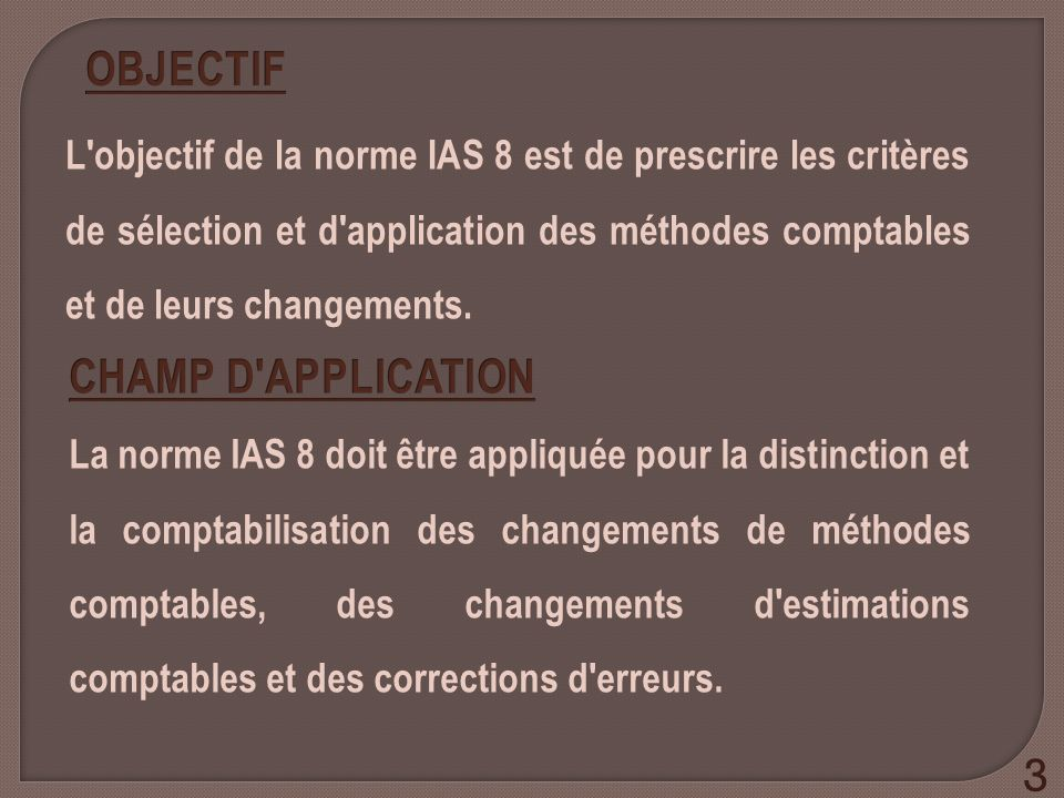OBJECTIF CHAMP D APPLICATION