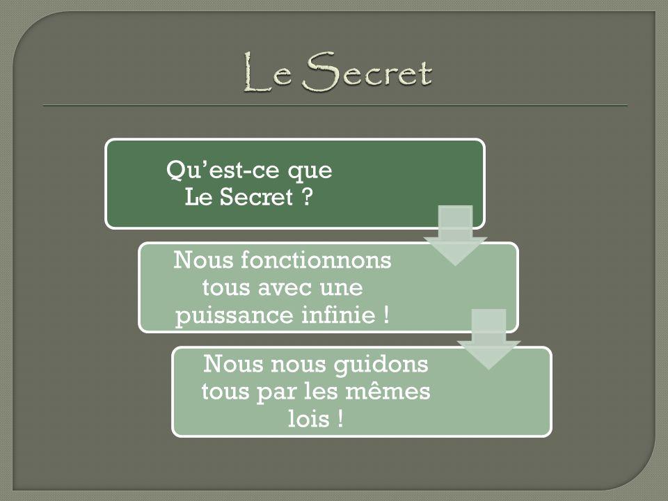 Le Secret Nous fonctionnons tous avec une puissance infinie !