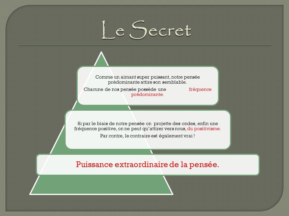 Le Secret Puissance extraordinaire de la pensée.