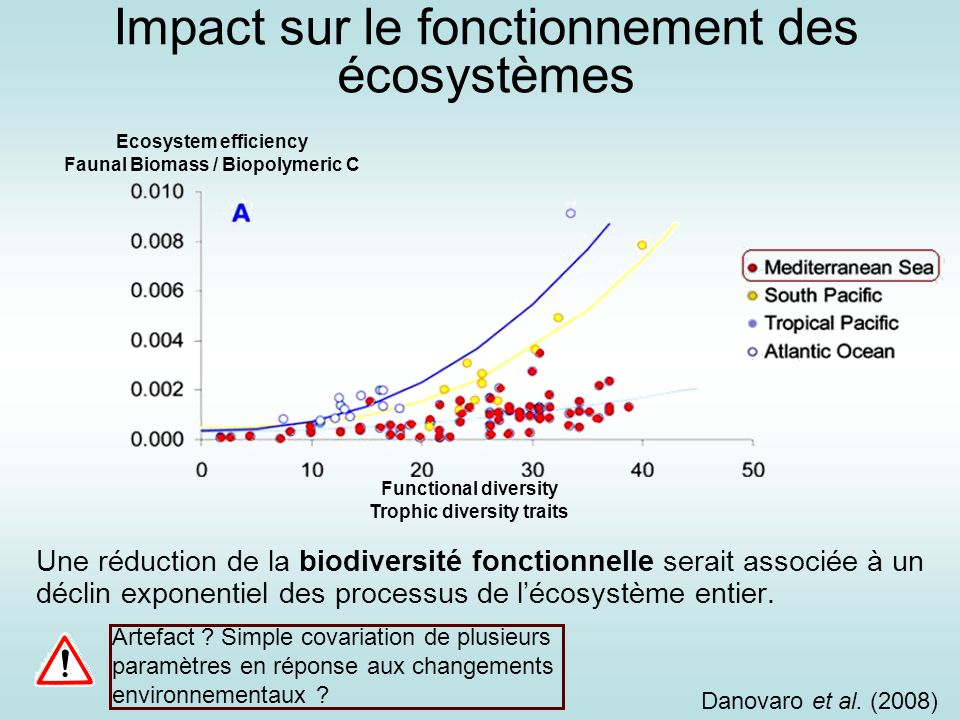 Impact sur le fonctionnement des écosystèmes
