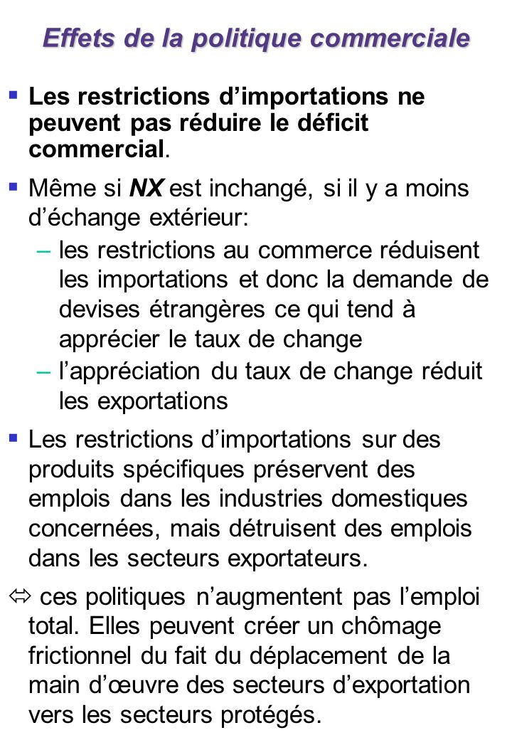 3. Les taux de changes fixes
