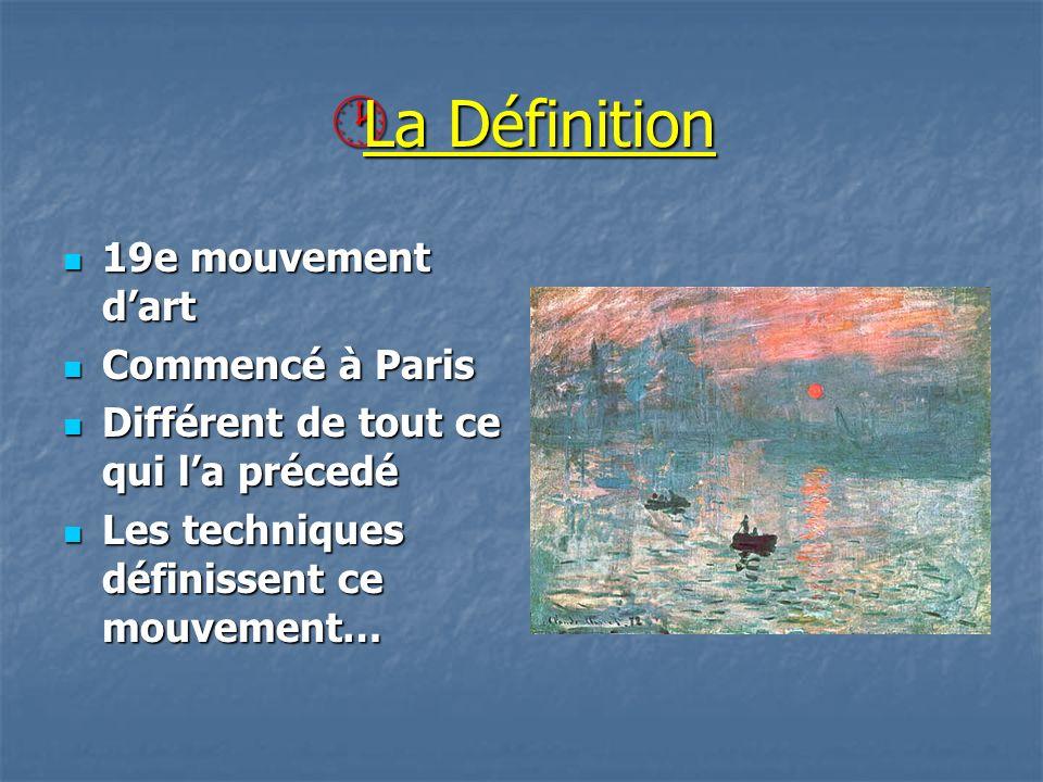 La Définition 19e mouvement d'art Commencé à Paris