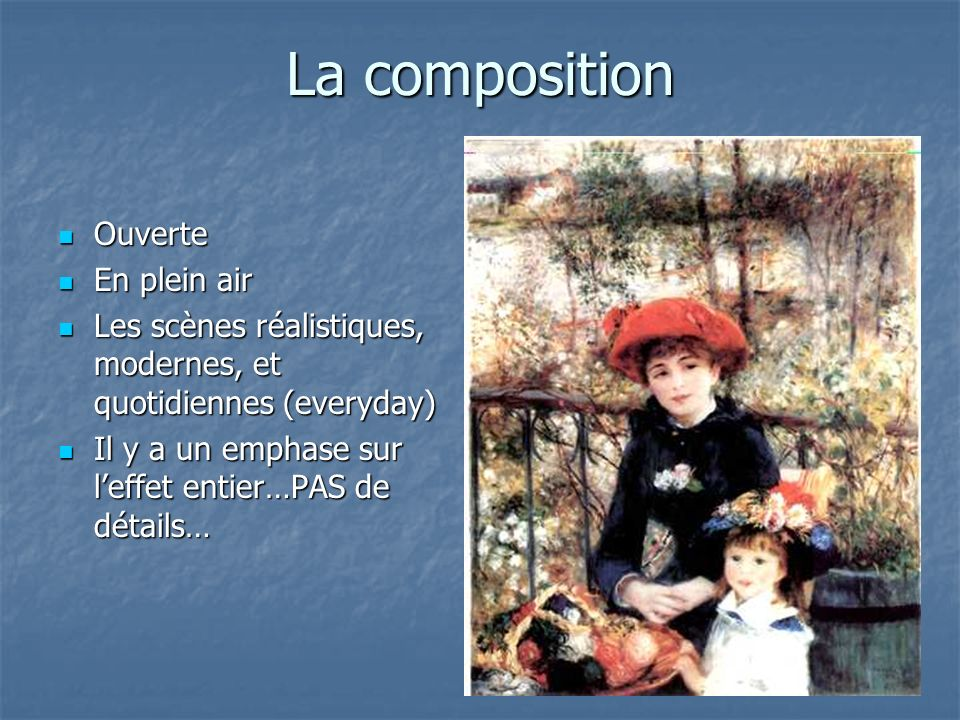 La composition Ouverte En plein air