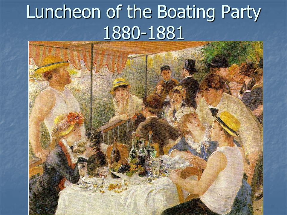 Luncheon of the Boating Party 1880-1881