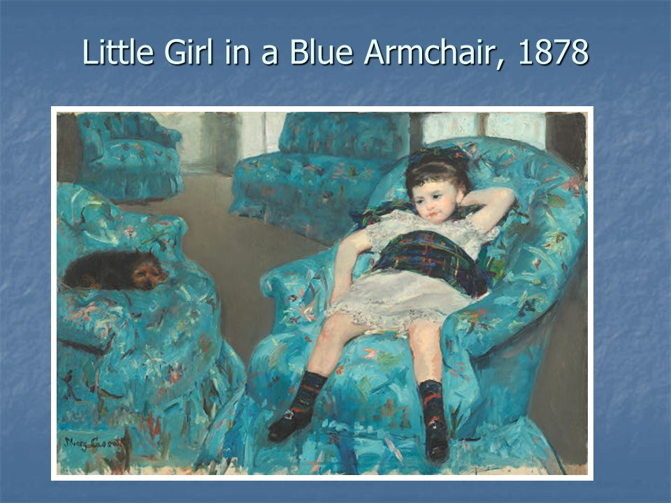 Little Girl in a Blue Armchair, 1878