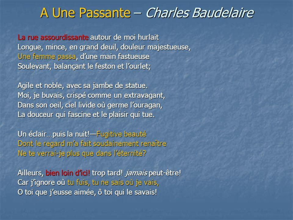 A Une Passante – Charles Baudelaire
