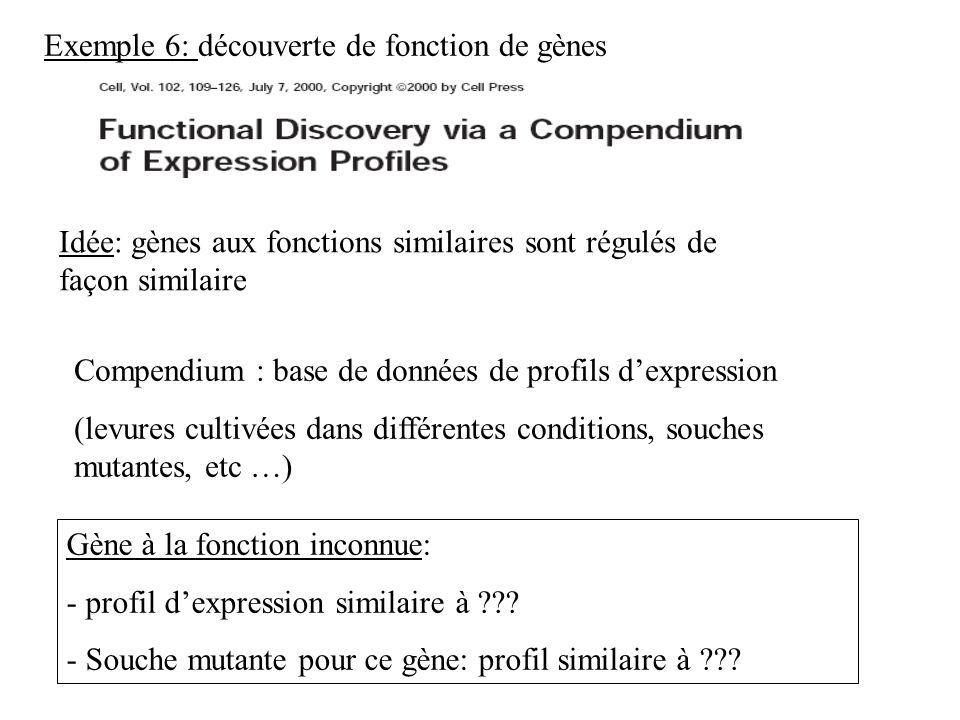 Exemple 6: découverte de fonction de gènes
