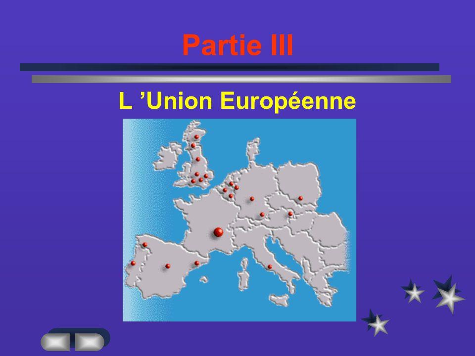 Partie III L 'Union Européenne