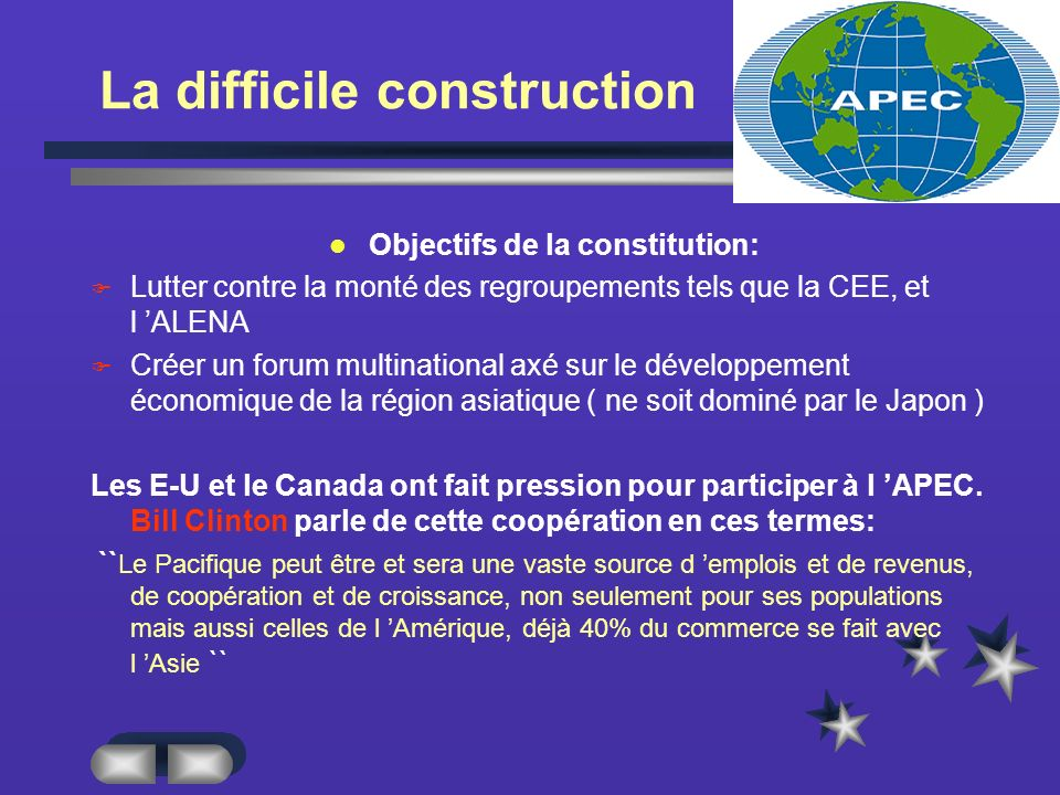 La difficile construction