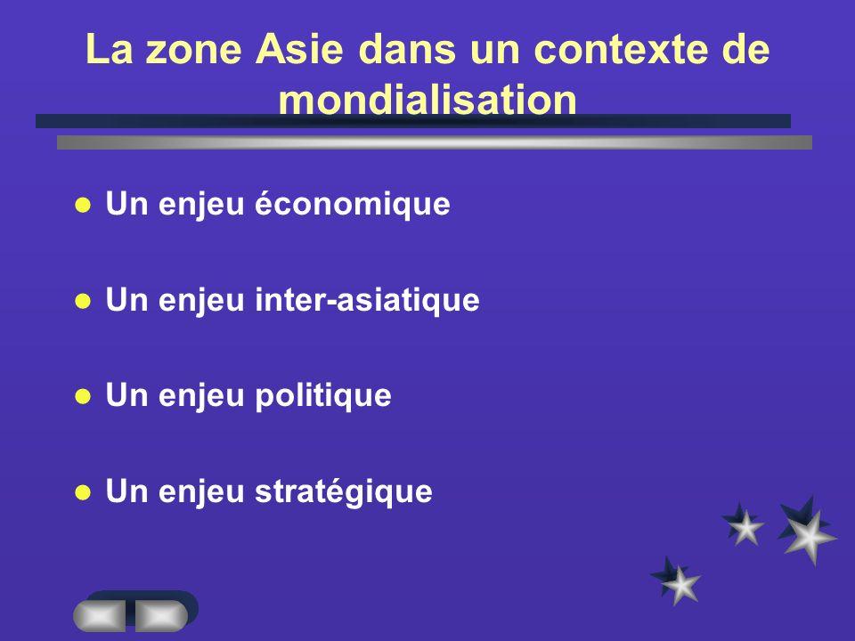 La zone Asie dans un contexte de mondialisation
