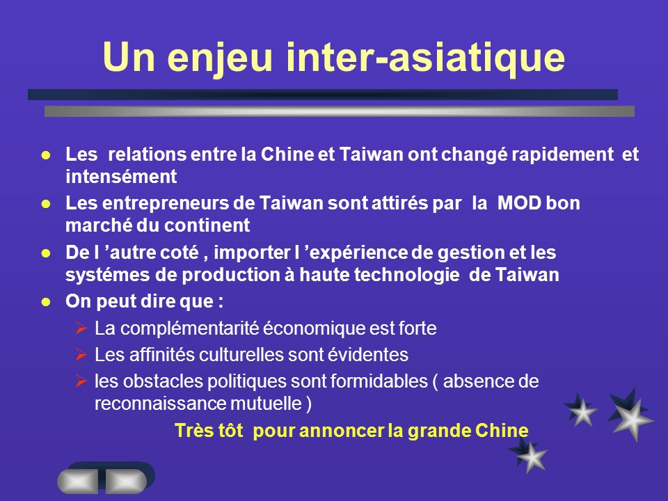 Un enjeu inter-asiatique