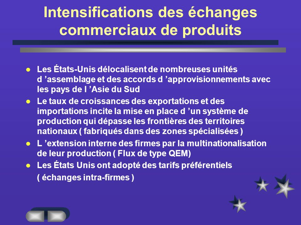 Intensifications des échanges commerciaux de produits