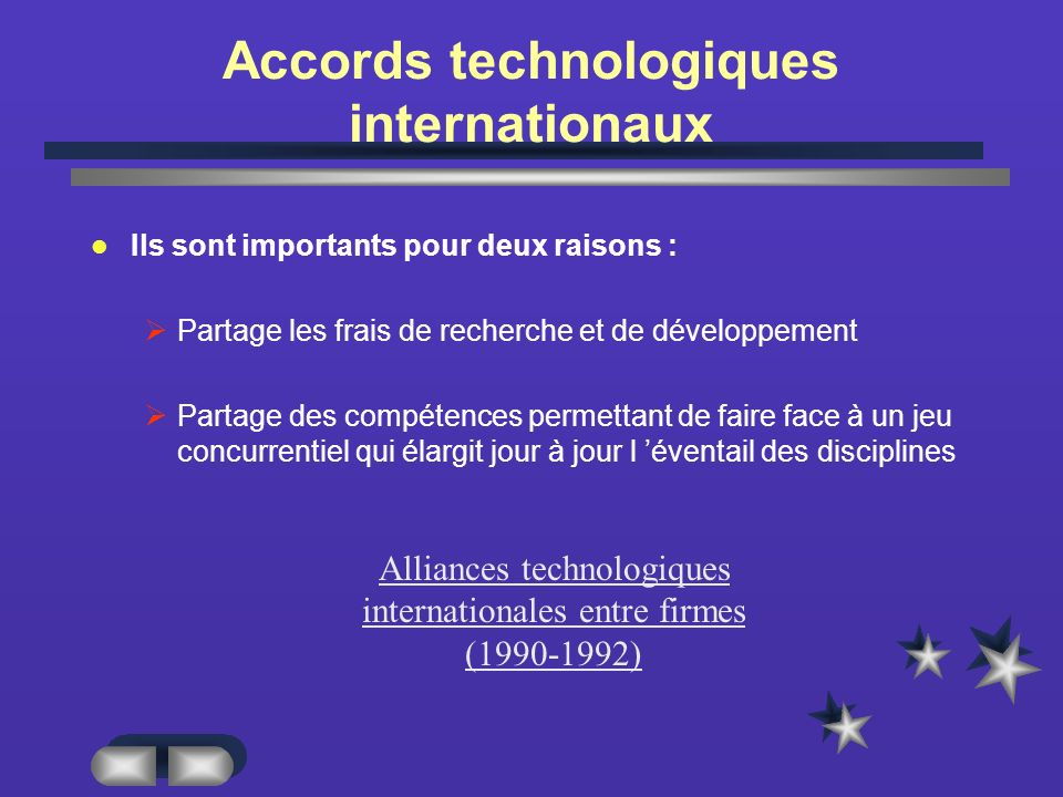 Accords technologiques internationaux