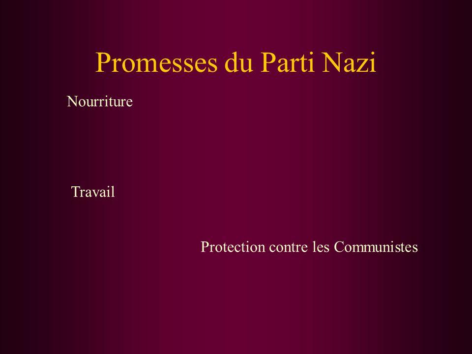 Promesses du Parti Nazi
