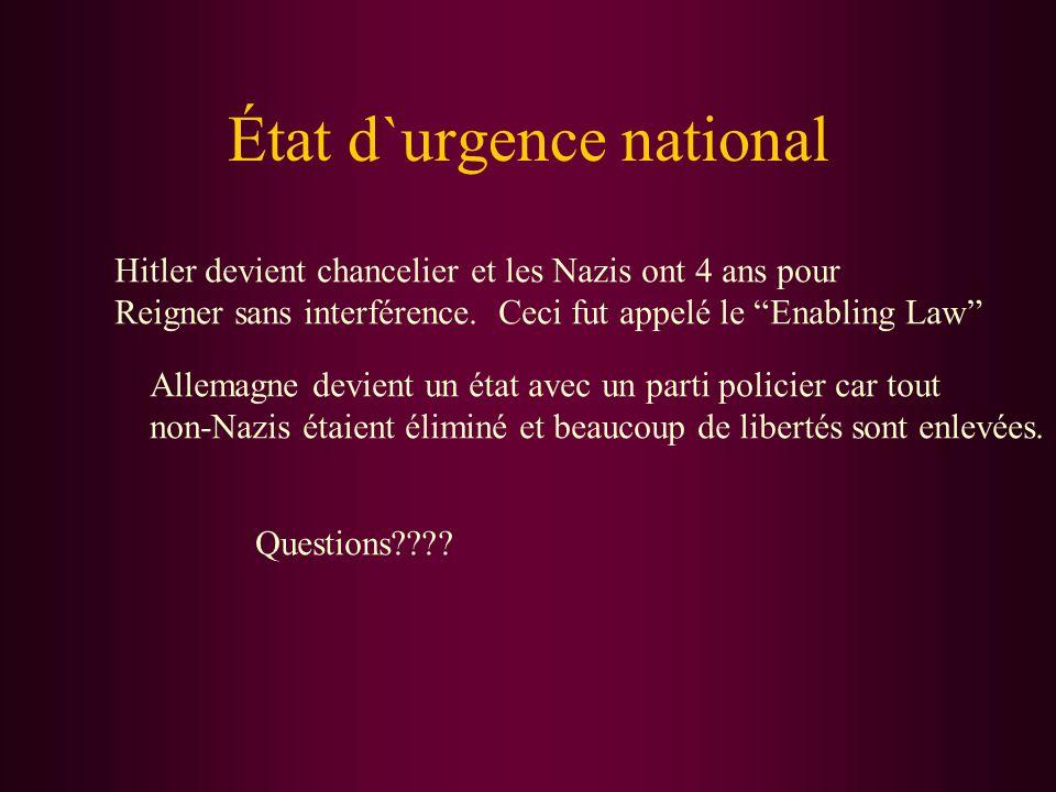 État d`urgence national