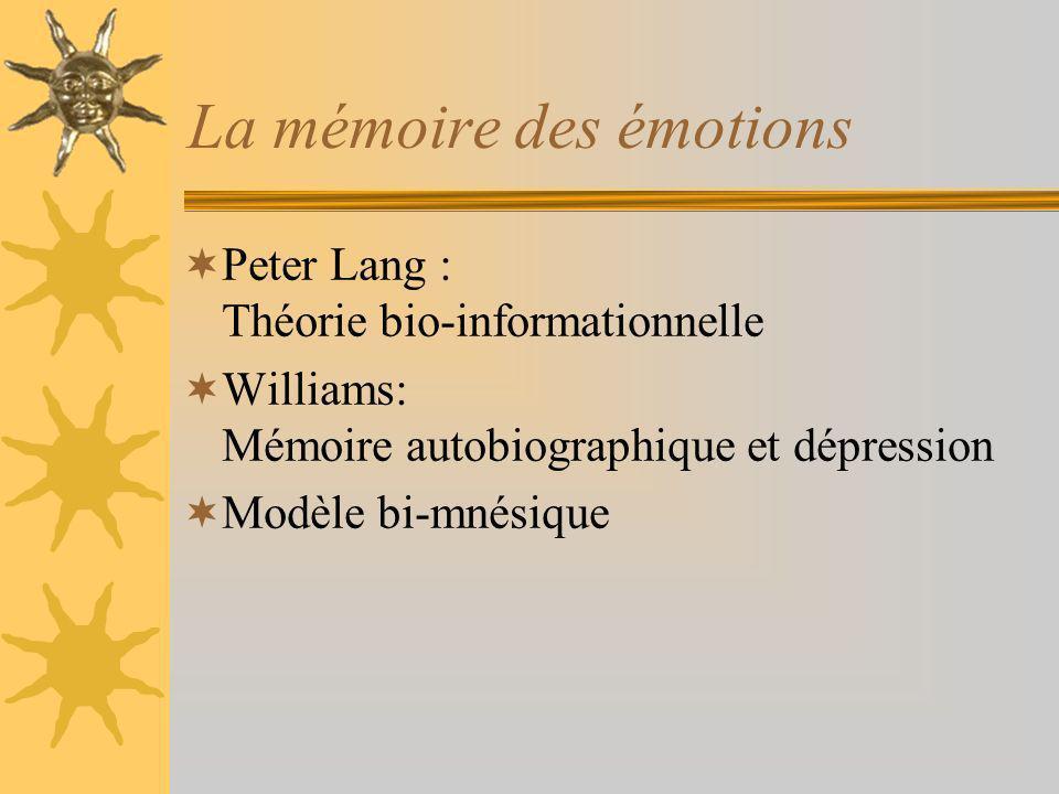 La mémoire des émotions