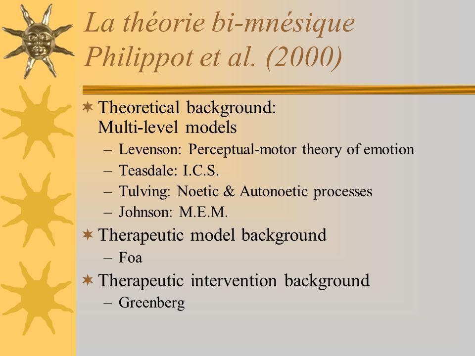 La théorie bi-mnésique Philippot et al. (2000)