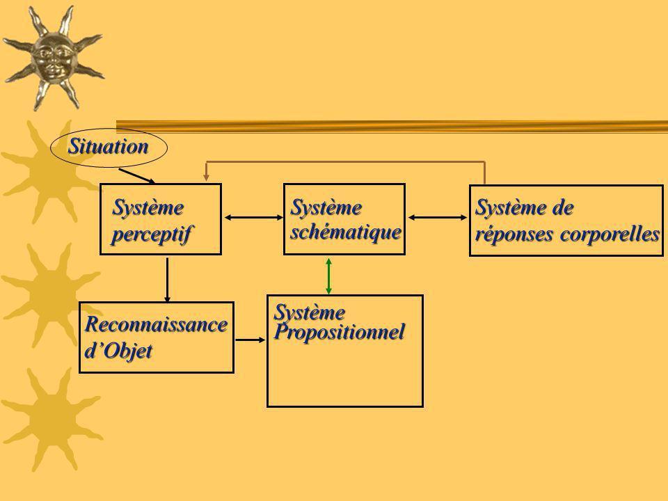 Situation Système. perceptif. Système. schématique. Système de. réponses corporelles. Système.