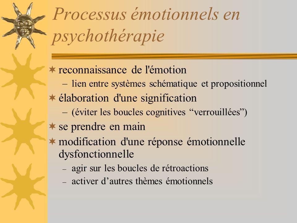 Processus émotionnels en psychothérapie