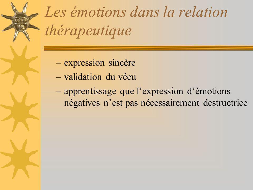 Les émotions dans la relation thérapeutique
