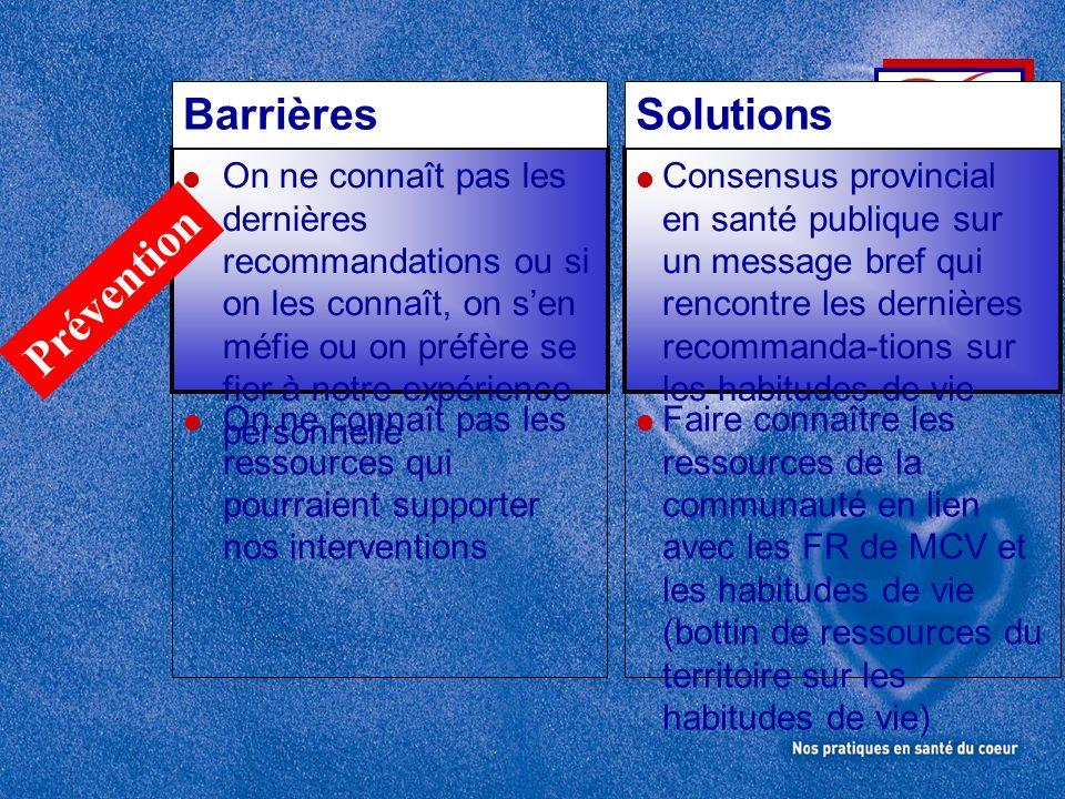 Prévention Barrières Solutions