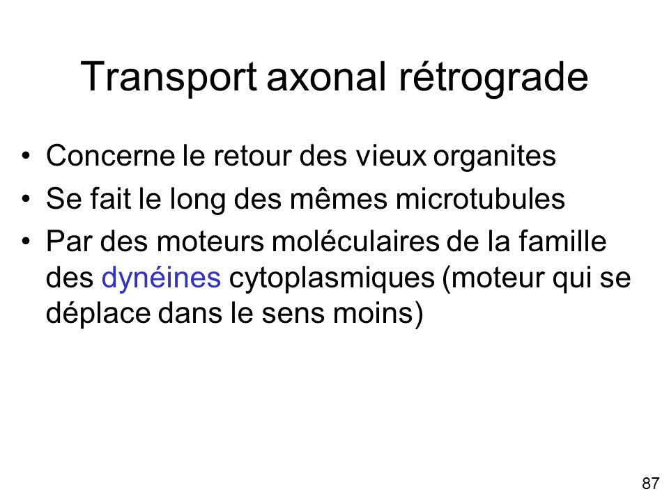 Transport axonal rétrograde